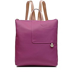 Radley - Pink pocket essentials large zip-top backpack