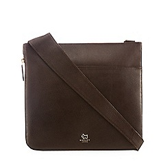 Radley - Dark brown leather large cross body bag