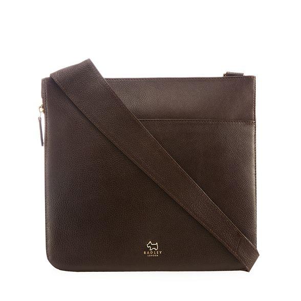 cross bag large leather Radley brown body Dark wqAIYR6