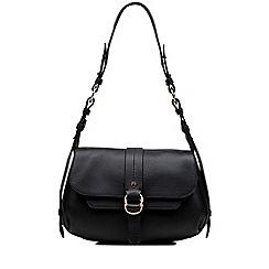 Radley - Black medium leather 'Trinity Square' shoulder bag