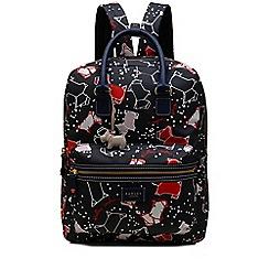 Radley - Large navy 'Speckle Dog' backpack