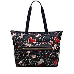 Radley - Large navy 'Speckle Dog' tote bag