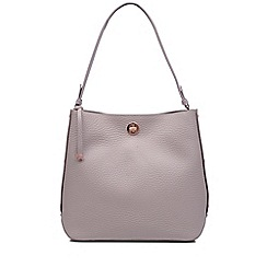 Radley - Large light grey leather 'Carey Street' bucket hobo bag