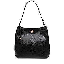 Radley - Large black leather 'Carey Street' bucket hobo bag