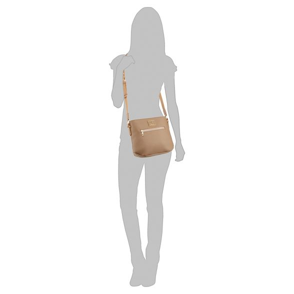 cross Kangol bag Tan body pebbled 4xE18wvq6E
