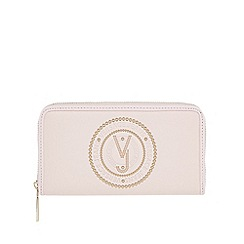 Versace Jeans - Pink studded large zip around purse