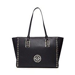 Versace Jeans - Black whipstitch shoulder bag
