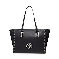 Versace Jeans - Black whipstitch shoulder bag