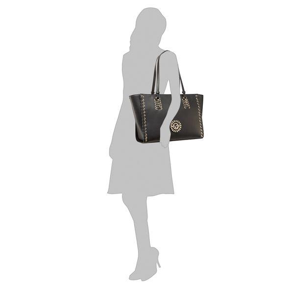 Black shoulder bag Jeans whipstitch Versace RxFHZn