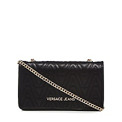 Versace Jeans - Black quilted purse bag