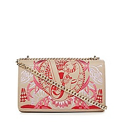 Versace Jeans - Cream embroidered cross body bag