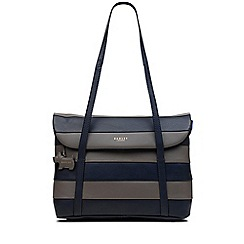 Radley - Medium navy leather 'Syon Park' tote bag