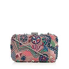 Nine by Savannah Miller - Multi-coloured embellished boxed clutch bag
