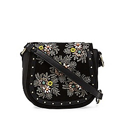 Nine by Savannah Miller - Black suede studded saddle bag