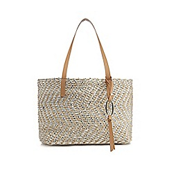 Nine by Savannah Miller - Natural metallic straw shopper bag