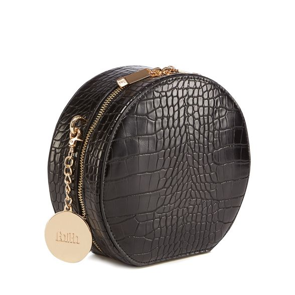 croc bag circle cross effect Faith Black body aq7vB