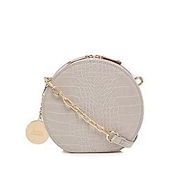 Faith - Grey croc-effect circle cross body bag