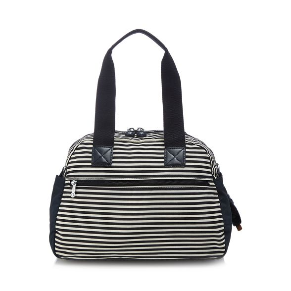 striped bag Kipling shoulder 'Defea' Navy qxqTHCS