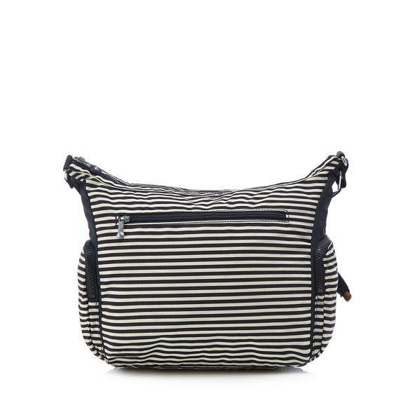 striped bag 'Gabbie' Kipling body cross Navy 51pRB