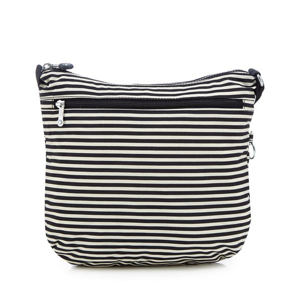 'Arto' Navy cross striped bag Kipling body wnUqOxpq4