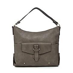 Kangol - Dark grey large pocket shoulder bag