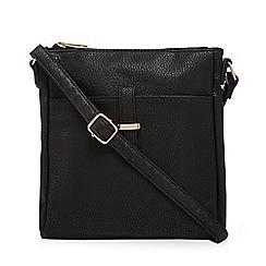 Kangol - Black leatherette cross body bag