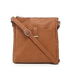 Kangol - Tan leatherette cross body bag