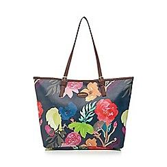 Kangol - Navy floral print tote bag
