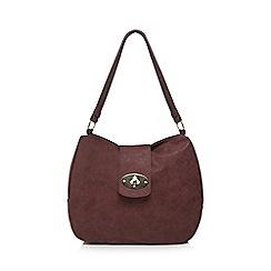 Kangol - Wine flap lock shoulder bag