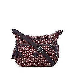 Kipling - Multi-coloured geometric print 'Gabbie' cross body bag