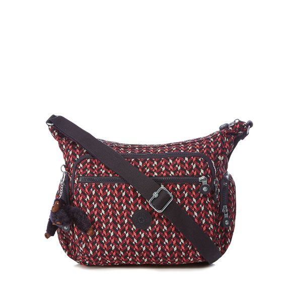 'Gabbie' print bag body Kipling cross geometric Multi coloured qn1RI
