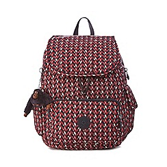 Kipling - Multi-coloured geometric print 'City' backpack