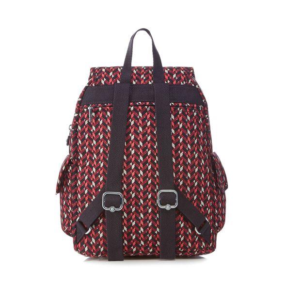 'City' geometric Multi coloured backpack print Kipling I6wZWgq6