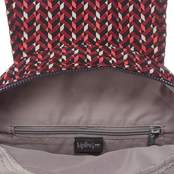 'City' print Multi Kipling coloured backpack geometric xB4YqnWIFw