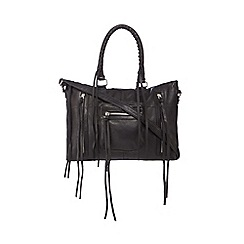 Day and Mood - Black leather 'Rose' grab bag