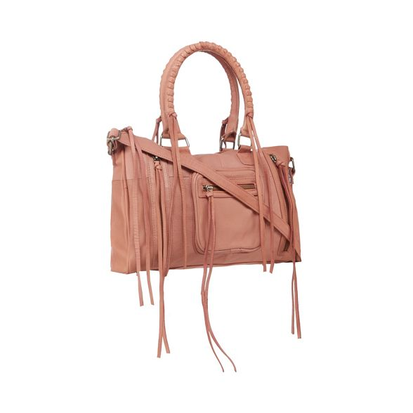 Pink leather Day bag 'Rose' Mood grab and w44q6Z