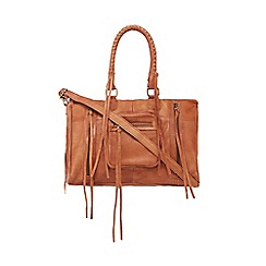 Day and Mood - Tan leather 'Rose' grab bag