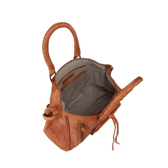 grab and leather Tan Mood 'Rose' Day bag q7X4w