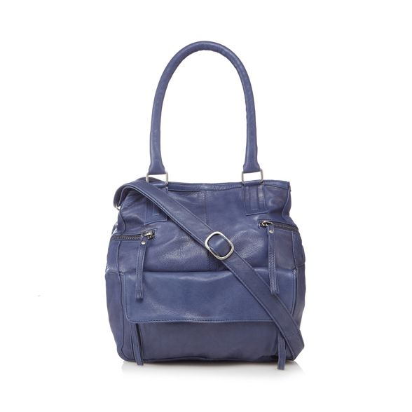 and Navy leather Day Mood bag 'Hannah' grab 4OATBdBqw