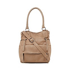 Day and Mood - Grey leather 'Hannah' grab bag