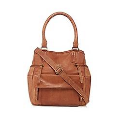 Day and Mood - Tan leather 'Hannah' grab bag