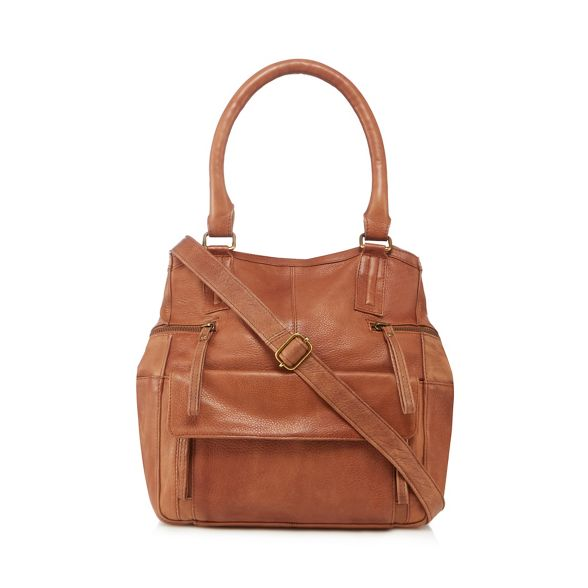 Tan and Day 'Hannah' Mood grab leather bag BpxTnqCwUx