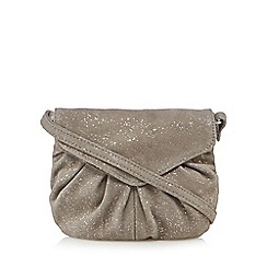 Day and Mood - Silver suede 'Elderflower' mini cross body bag