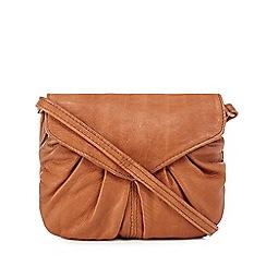 Day and Mood - Tan leather 'Elderflower' mini cross body bag