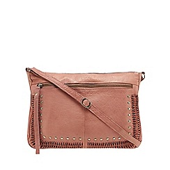 Day and Mood - Light pink leather 'Noell' cross body bag