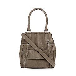 Day and Mood - Grey suede 'Hannah' shoulder bag