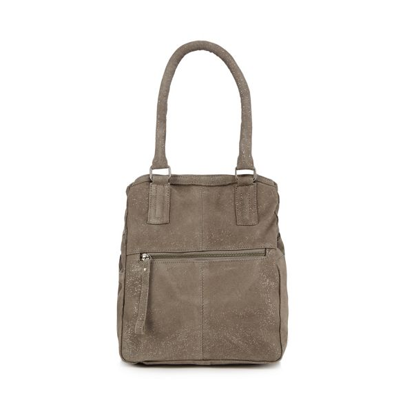 Grey shoulder bag suede Mood 'Hannah' and Day qE0gwpX
