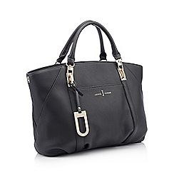 J by Jasper Conran - Black textured finish 'Teddington' large grab bag