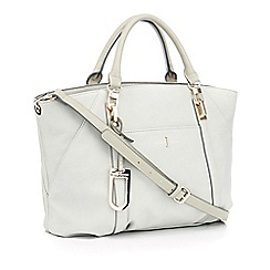 J by Jasper Conran - Grey textured finish 'Teddington' large grab bag