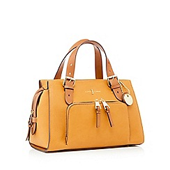 J by Jasper Conran - Dark yellow faux leather 'Holland Park' grab bag